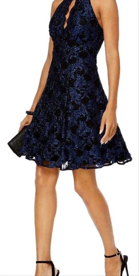 da8a164012b Night Way Collections Black & Navy Short Cocktail Dress Size 6 (S ...