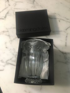 Bloomingdale's Crystal Bud Vase New In A Box Decoration