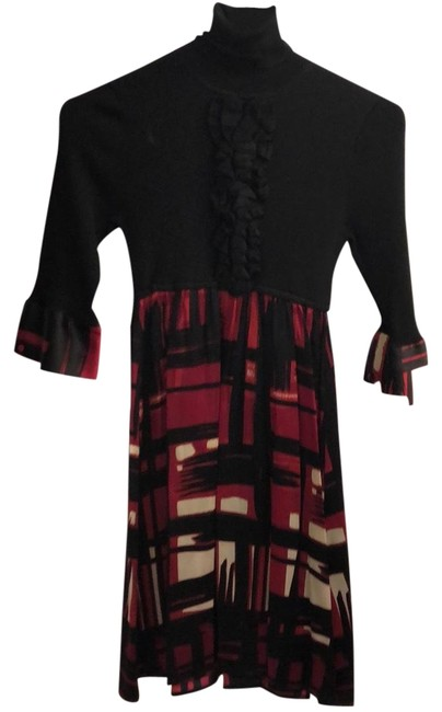 Item - Black & Red Babydoll Mid-length Night Out Dress Size 2 (XS)