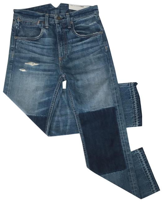Item - Blue Distressed Marilyn Buckle Back In Albright Capri/Cropped Jeans Size 00 (XXS, 24)