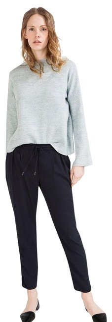 Zara Drawstring Trousers Slouchy Michael Kors Madewell Relaxed Pants black