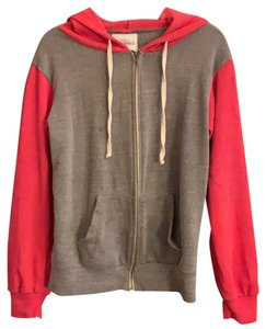 SoulCycle bicolor hoodie with shiny red mottos