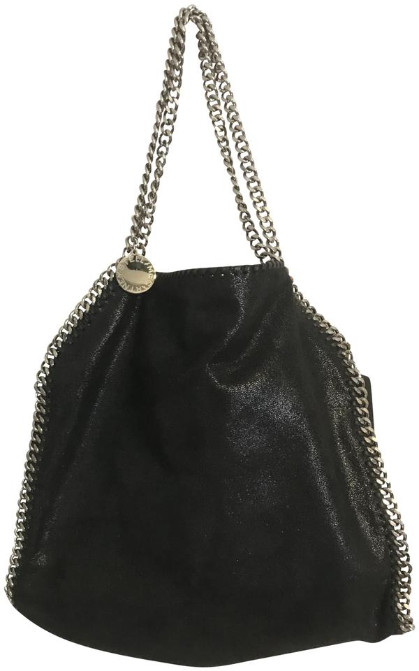 e50fb1561d Stella McCartney Falabella Shaggy Deer Small Hobo Black Polyester Tote
