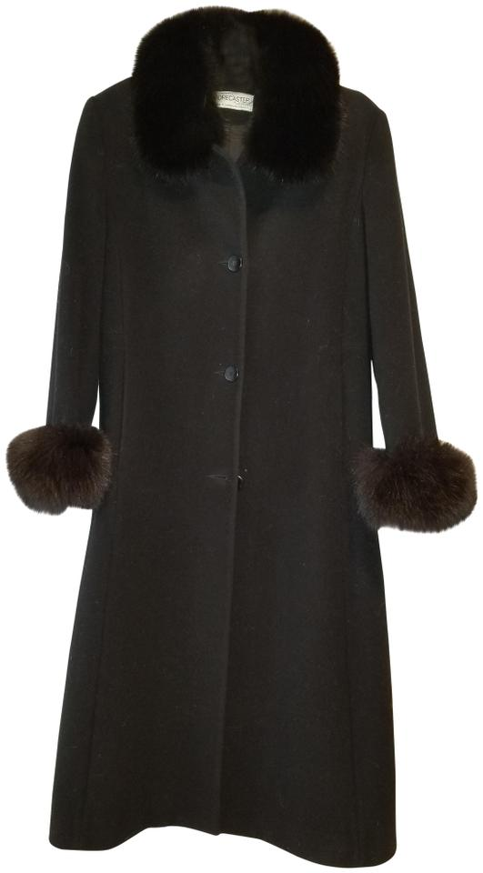 8c988923eba Forecaster of Boston Black Wool with Fox Collar and Cuffs Coat Size ...