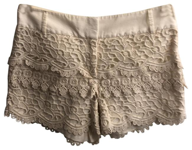 Item - Cream Lace Crochet Shorts Size 2 (XS, 26)