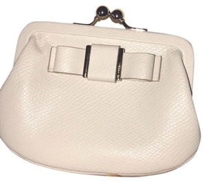 Coach Coach Chalk Crossgrain Leather Coin Purse