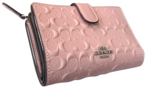 Coach Coach Embossed Pink Patent Leather Wallet