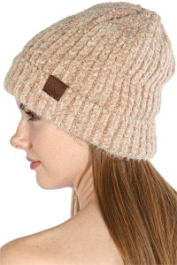 C.C C.C Exclusives Soft Chenille Chunky Knit Stretchy Beanie Infinity Hat