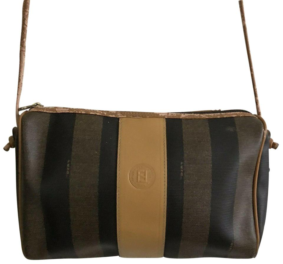 eaf8d093d3 Fendi Vintage Striped Coated Canvas Cross Body Bag - Tradesy