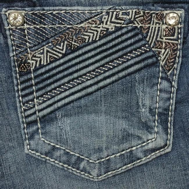 Item - Blue Distressed Mid Rise Skinny Jeans Size 29 (6, M)