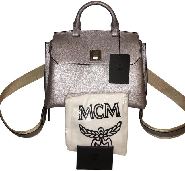 Item - Fontanellas Mid Convertible Silver Leather Backpack