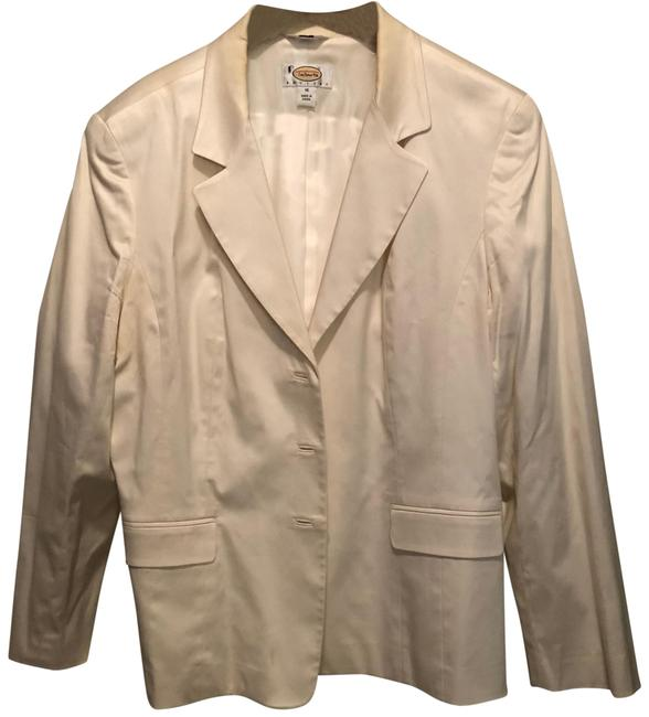 Item - Creamy White Silk Blazer Skirt Suit Size 16 (XL, Plus 0x)