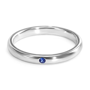 Tiffany & Co. Authentic Tiffany & Co Elsa Peretti Band Ring with Blue Sapphire