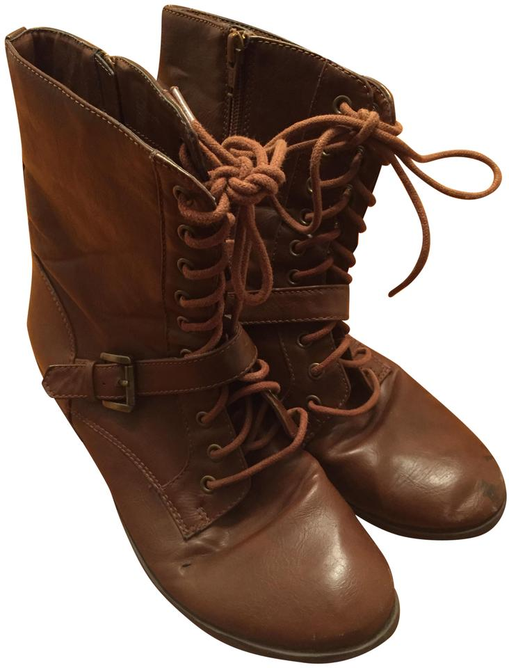e2e318165476 jcp Brown Above-the-ankle Boots Booties. Size  US 8.5 Regular (M ...