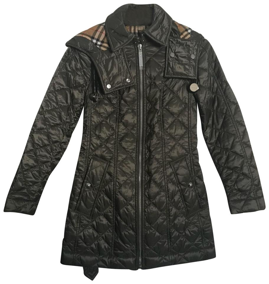 043ab2f2d Burberry Mink Grey New Baughton 18 Quilted with Removable Hood Coat ...