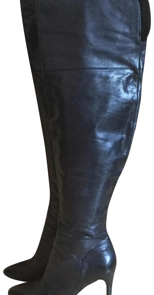 57fb9af4955 Enzo Angiolini Black Over The Knee Boots Booties Size US 7 Regular ...