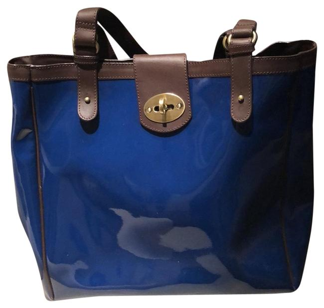 Item - Bag Royal Blue Patent Leather Tote