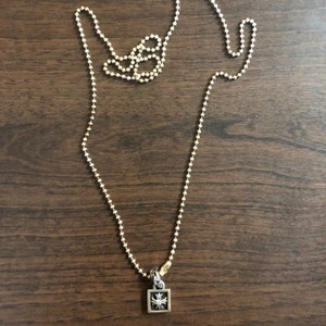 e034217ca59c Chrome Hearts Pendant Silver 925 Frame CH Plus Diamond Charm Necklace