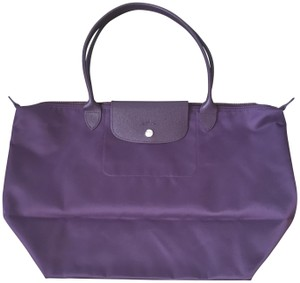f52fbbb42416b Added to Shopping Bag. Longchamp Lepliage Neo Nylon Tote in Purple