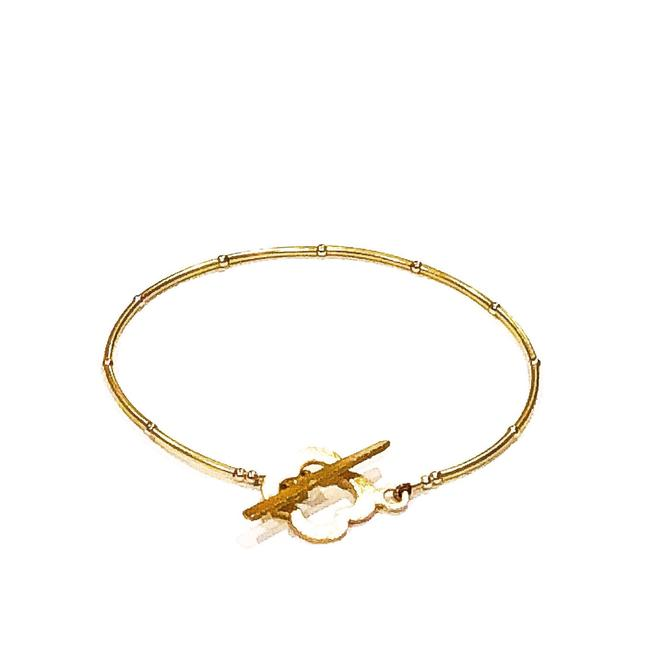 Unbranded Gold Luck 24k Vermeil with Four Leaf Clover Bracelet Unbranded Gold Luck 24k Vermeil with Four Leaf Clover Bracelet Image 1