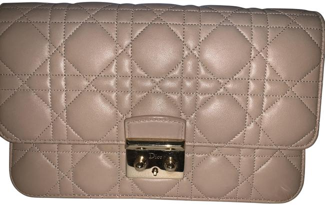 Item - Cannage Miss Pouch Nude Lambskin Leather Cross Body Bag