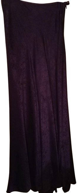 Item - Purple Made In Spain Long Viscose Skirt Size 6 (S, 28)