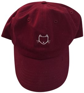 Empyre maroon baseball hat with cat imprint