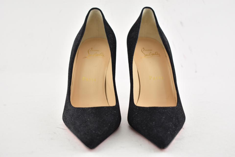 318b6316a34a Christian Louboutin Black Decollete 554 85 Crosta Star Glitter Suede  Stiletto Classic Heel Pumps Size EU 35 (Approx. US 5) Regular (M