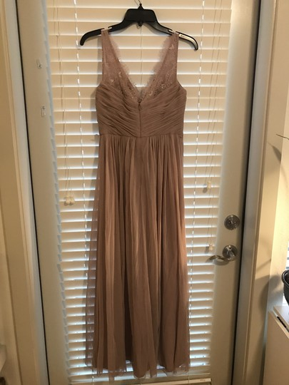 BHLDN Violet Grey Lace Tulle Fleur Hitherto For Feminine Bridesmaid/Mob Dress Size 4 (S) Image 3
