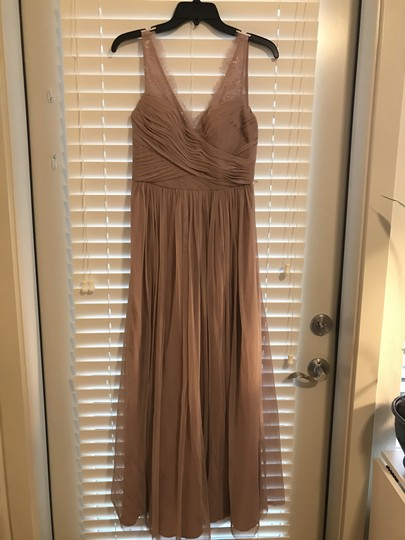 BHLDN Violet Grey Lace Tulle Fleur Hitherto For Feminine Bridesmaid/Mob Dress Size 4 (S) Image 4