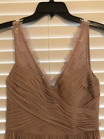 BHLDN Violet Grey Lace Tulle Fleur Hitherto For Feminine Bridesmaid/Mob Dress Size 4 (S) Image 6