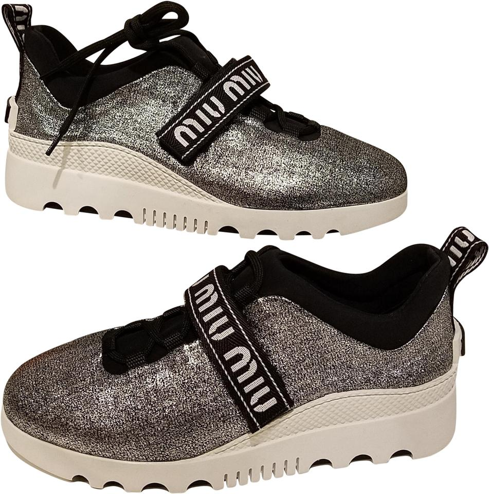 Cromo Trainer Cracle With Platform Chrome Miu Glitter Metal P1awqppv
