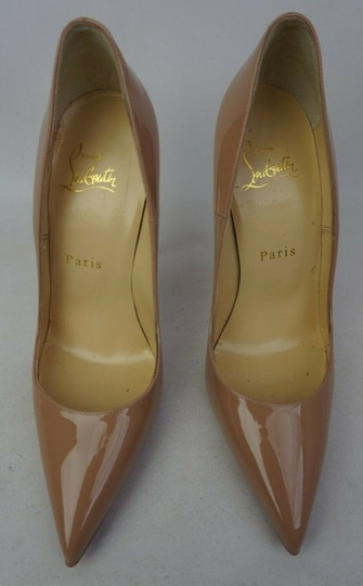 CHRISTIAN LOUBOUTIN Patent So Kate 120 Pumps 36 Nude 605884
