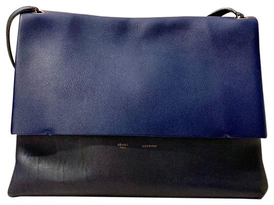 Preload https://img-static.tradesy.com/item/24763368/celine-all-soft-calfskin-suede-grained-smooth-leather-blue-and-black-shoulder-bag-0-1-540-540.jpg