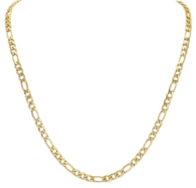 Item - Goldtone Stainless Steel Figaro Link Chain
