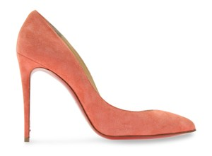 Christian Louboutin Charlotte Veau Velours orange Pumps
