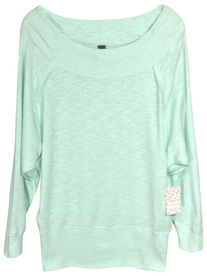 f0dc38e7cf8a1 Free People Mint Palisades Off-the-shoulder Thermal Blouse Size 6 (S ...