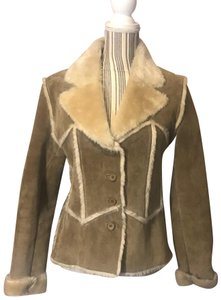 Wilsons Leather Suede Fauxfur Fur Coat