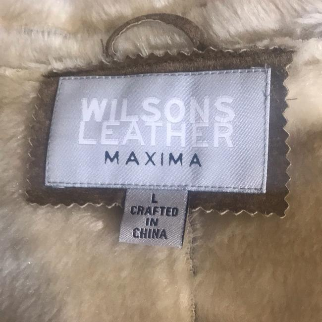 Wilsons Leather Suede Fauxfur Fur Coat Image 5