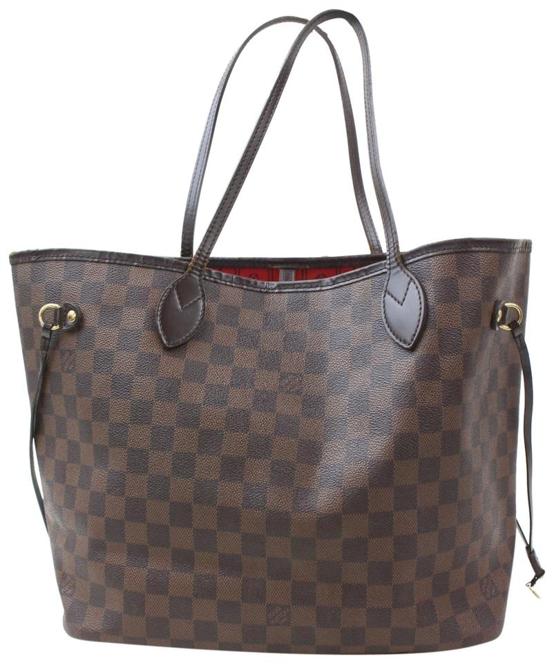 749b817cdb27 Louis Vuitton Shopper Never Full Neverfold Neverfill Checker Tote in Brown  Image 0 ...