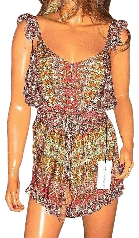 996e9568d1e Multi Colored Bronze Paisley Romper Jumpsuit - Tradesy