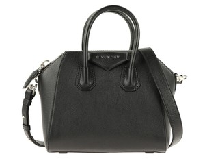 Givenchy Mini Antigona Sugar Antigona Nude Satchel in Black
