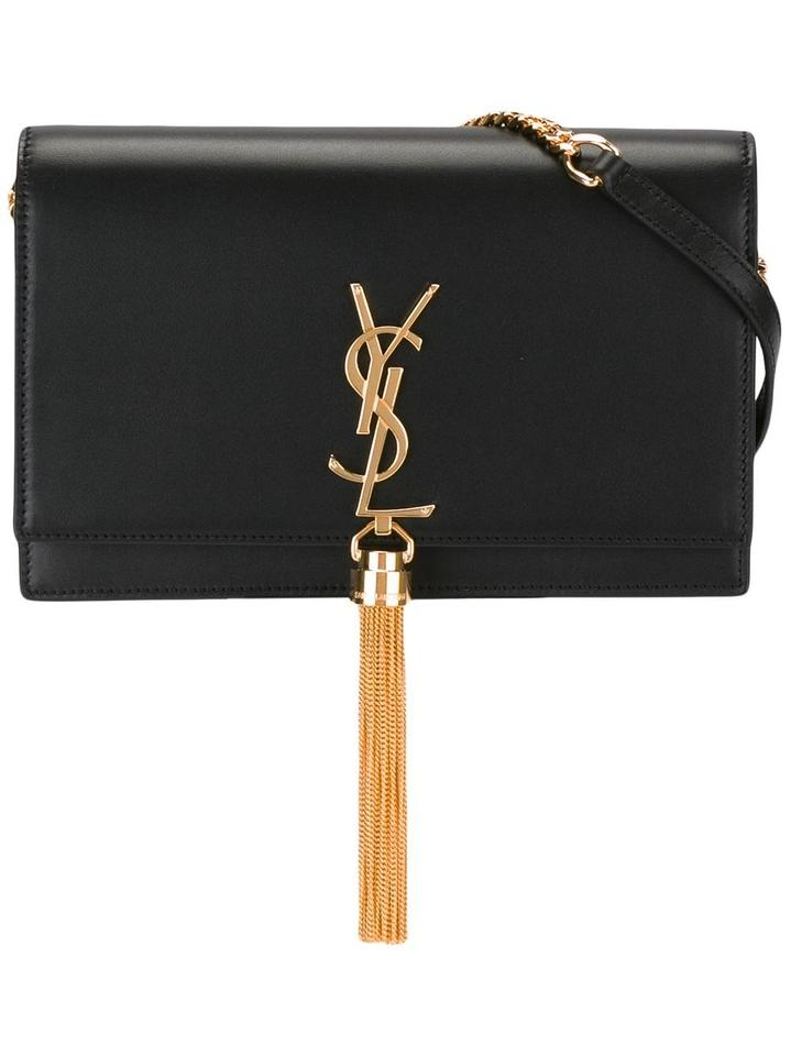 5d32796245d9 Saint Laurent Nude Tassel Monogram Kate Color-blocking Cross Body Bag Image  0 ...
