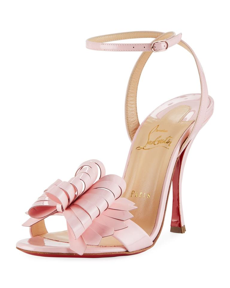 d5bfd065464 Christian Louboutin Red Sole 100 Mm Ankle Strap Miss Valois Baby Pink    Pompadour Sandals Image ...