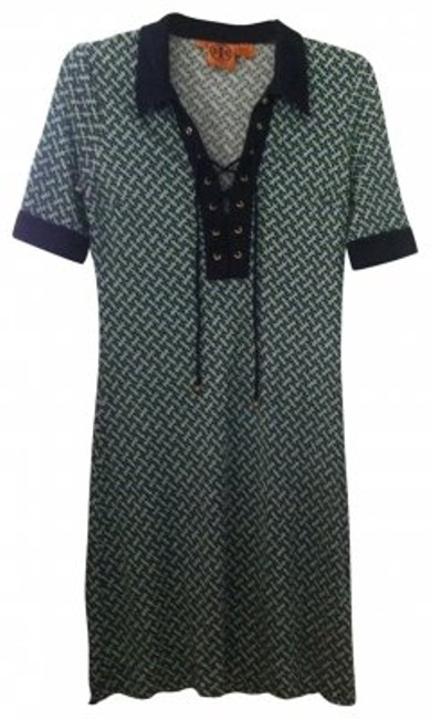 Preload https://item5.tradesy.com/images/tory-burch-navy-green-and-gold-sheath-with-lace-up-front-above-knee-short-casual-dress-size-2-xs-24764-0-0.jpg?width=400&height=650