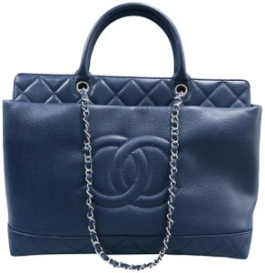 Chanel Cc Soft Caviar Tote in navy