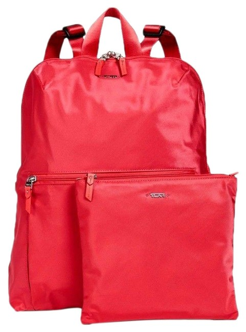 Item - 2pcs Packable Foldable Travel + Pouch Hot Pink Nylon Backpack