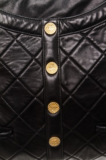 287a3074c2ea Chanel Girl Quilted 488119 Black Lambskin Leather Cross Body Bag ...