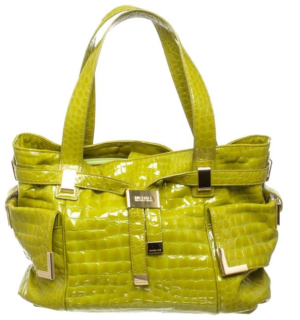 Item - Bag Croc-embossed 487871 Lime Green Patent Leather Tote