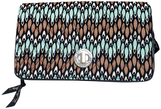 Item - Sierra Stream Turquoise and Brown Cotton Cross Body Bag